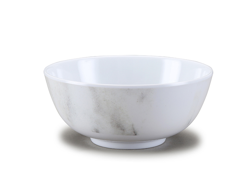 Shall melamine salad bowl with marble design