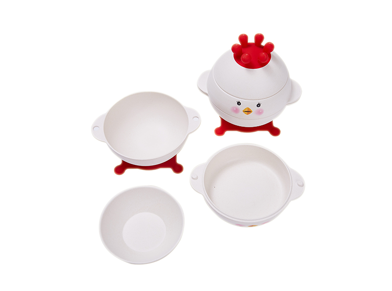 Shall bamboo fiber 3pcs egg shape kid's set