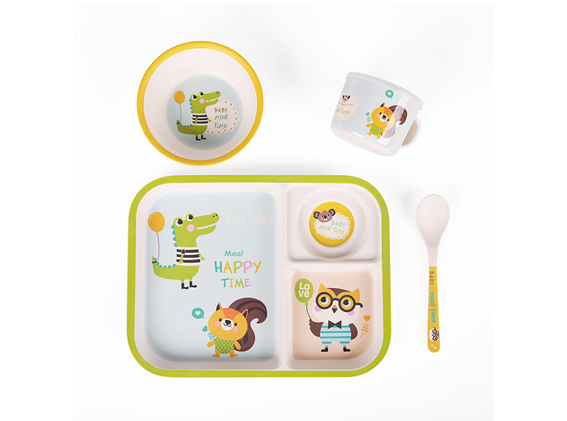 SHALL children food tray cheap kids melamine serving tray