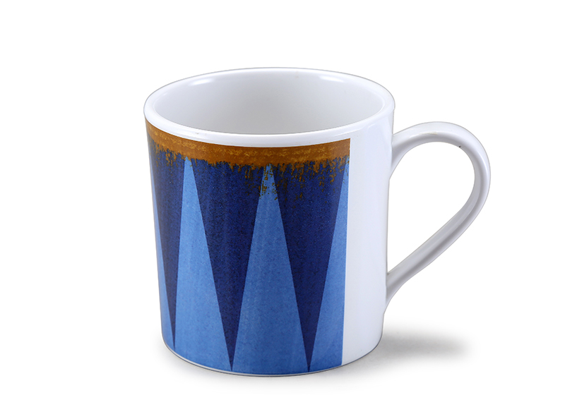 Melamine mug with geographic design