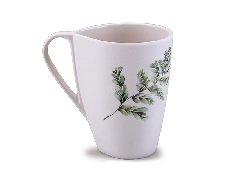 Drop shape tea mug bamboo fiber