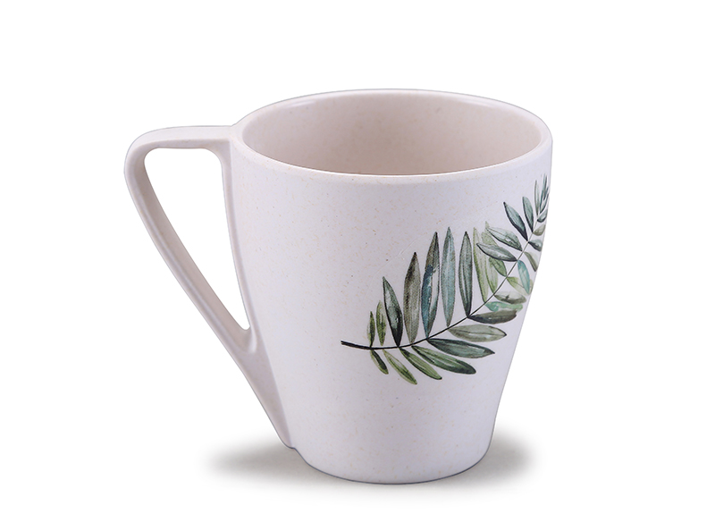 Drop shape coffee mug bamboo fiber