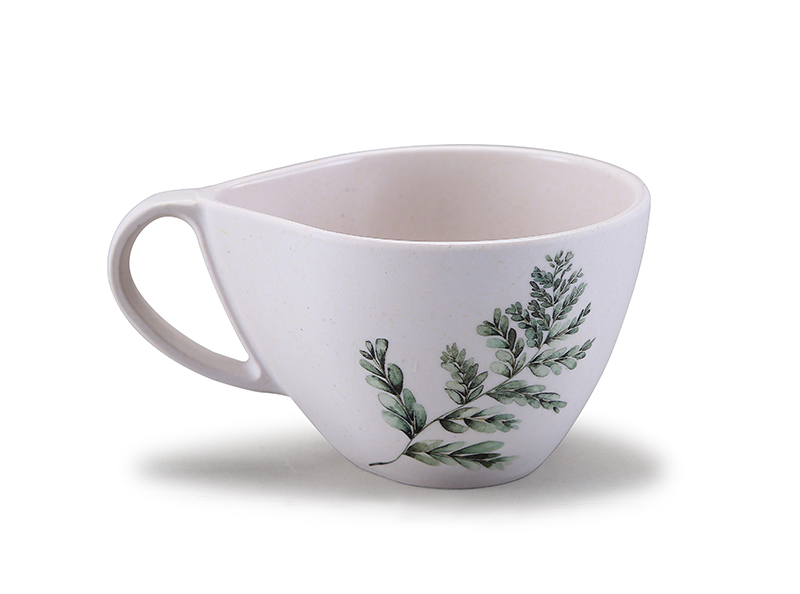 Green Leaf  Melamine coffee mug